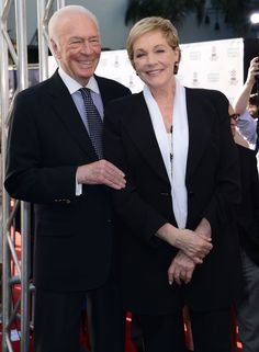 Julie Andrews and Christopher Plummer attend the 50th Anniversary screening of the Sound of Music.
