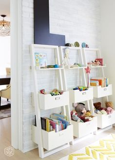 storage for a kids' playroom...