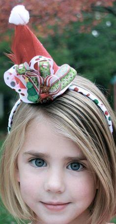 Mini Christmas SANTA hat!   facebook.com/stelladorisdesigns.com