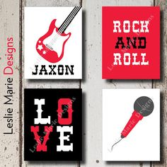 ROCK N ROLL DECOR  Rockstar  Rock n Roll by LeslieMarieDesigns, $35.00