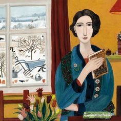 'Thinking Ahead' By Dee Nickerson. Blank Art Cards By Green Pebble.