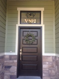 Beau If Only I Had A Window Above My Front Door For Some Transom Vintage House  Numbers