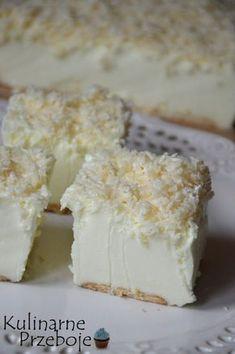 Ciasto Śnieżny puch – bez pieczenia - w kilka minut! Cold Desserts, Cookie Desserts, No Bake Desserts, Delicious Desserts, Yummy Food, Cake Recipes, Snack Recipes, Dessert Recipes, Cheesecake