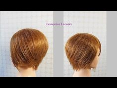Hairdresser education step by step. Short Bob haircut tutorial. How to cut beauty hairstyle. - YouTube