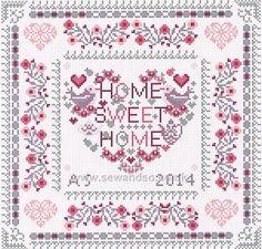 Buy Home Sweet Heart Home Cross Stitch Kit Online at www.sewandso.co.uk