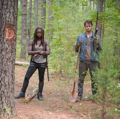 "Michonne helps Spencer bury Deanna;  S6;  ""The Next World"""