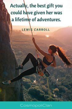 """Actually, the best gift you could have given her was a lifetime of adventures."" – Lewis Carroll. Let this inspirational travel quote spark your wanderlust and inspire your next family travel vacation. Like this quote? Head over to our blog for more travel inspiration quotes. Thanks for repinning! #quote #travelquote #travel"