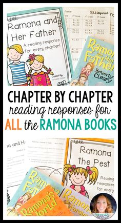 Students love Ramona Quimby novel studies! These activities take your readers through each chapter of each Ramona book! The reading responses are aligned to the Common Core, fun, rigorous, and easy to implement in your elementary classroom! Use them small group, whole group, with reader's notebooks, and in literature circles.