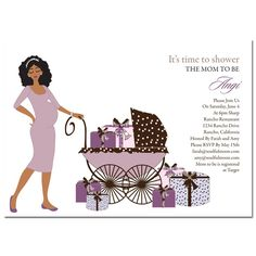 Unique African American Baby Shower Invitations from #Soulfulmoon - Buggy Diva