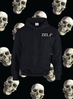 Smoking Death Hoodie on Black |  #Skull #Bones #Black #Tshirt #Clothing #Hoodie #CoolClothing #Crewneck #ForSale #OnSale #Bones #Smoking #Death #Style #MensFashion