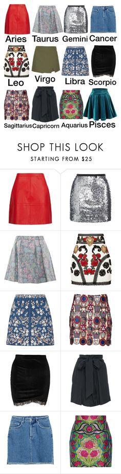 """Mini Skirts"" by kathrina1yana2jemma3cloe4 ❤ liked on Polyvore featuring Topshop, Marc by Marc Jacobs, Dolce&Gabbana, Needle & Thread, Mary Katrantzou, Kalita, H&M and Gucci"