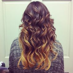 Brown with golden blonde ombre