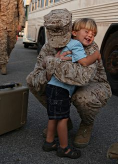 The sweetest kind of hug. Help the ASBP ensure that hugs like this can happen at homecomings, too. By donating blood to the ASBP, you can help save lives of ill or injured service members, veterans and their families. Hugs, Military Love, Military Families, Military Quotes, Military Pictures, Military Homecoming, We Are The World, Real Hero, American Soldiers