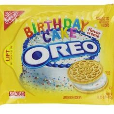 Best Golden Birthday Cake Oreo Sandwich Cookies Recipe on Pinterest