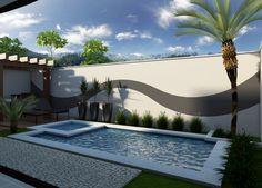 Backyard Pool Landscaping, Backyard Pool Designs, Small Backyard Pools, Swimming Pools Backyard, Swimming Pool Designs, Patio Design, Garden Pool, Apartment Backyard, Outdoor Living