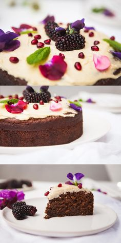 This healthy Vegan Ginger Cake is gluten free and filled with aromatic spices. Soft and moist, with a cashew lemon icing. Delicious Vegan Recipes, Healthy Dessert Recipes, Healthy Treats, No Bake Desserts, Raw Food Recipes, Kitchen Recipes, Free Recipes, Vegan Sweets, Vegan Desserts