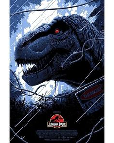 'Jurassic Park' print by Florey - A Joint Release from Bottleneck Gallery & Vice Press T Rex Jurassic Park, Jurassic Park Poster, Jurassic World 3, Jurassic Park Tattoo, Jurrassic Park, Park Art, Tiranosauro Rex, Jurassic World Wallpaper, Jurassic Movies