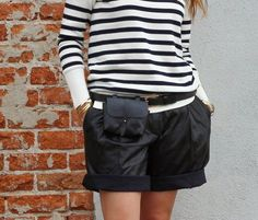 My Fancy Pants...@Tibi shorts  @jcrew  sweater @nastygal fanny pack