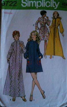 Vintage 70s Robe Sewing Pattern size 34  -36  Bust very good used condition