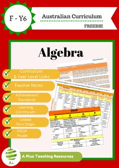 If your Primary Math Students Fear or Struggle With Algebra Then You Must Try Our Teaching Algebra Top 5 Tricks! Get Your FREE Printable From Our Website! Teaching Patterns, Free Teaching Resources, Teacher Resources, Teaching Ideas, Primary Maths, Primary School, Teacher Notes, Australian Curriculum, Little Learners