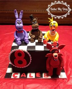 Five nights at Freddy's cake www.facebook.com/CustomByJanet