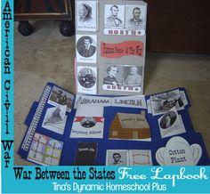 War Between the States http://www.tinasdynamichomeschoolplus.com/exploring-to-revolution/war-between-the-states/