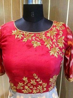Pink Saree Blouse, Saree Blouse Patterns, Saree Blouse Designs, Best Blouse Designs, Crop Top Designs, Dress Designs, Embroidery Neck Designs, Embroidery Suits, Blouse Desings