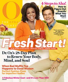 O Magazine Cover, January 2012