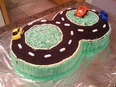 hot wheels cake decorating ideas figure 8 racetrack my little year old boy just loves cars birthday car