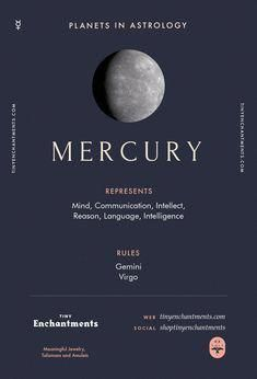 Mercury Sign in Astrology - Planet Meaning, Zodiac, Symbolism, Characteristics - Astrologie - Gemini And Virgo, Love Horoscope, Astrology Zodiac, Astrology Signs, Zodiac Signs, Moon Zodiac, Astrology Houses, Gemini Girl, Learn Astrology