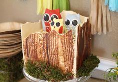 Owl Themed Woodland Baby Shower #Owl #Themed #Woodland #Baby #Shower #party #cake