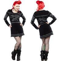 Krampus Fair Isle Sweater Dress by Sourpuss