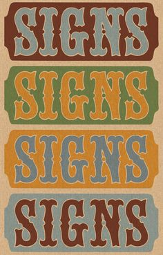 Chromatic Signs by Keith Tatum