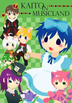Tags: Vocaloid, Kagamine Len, KAITO, Kamui Gakupo, Pixiv, Hiyama Kiyoteru, Ryuto, Utatane Piko, VY2, Alice in Musicland, Pixiv Id 3581379