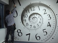 Awesome clock wall mural