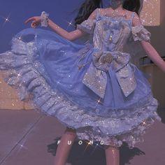Fairytale Dress, Fairy Dress, Cute Dresses, Beautiful Dresses, Glitter Fashion, Blue Aesthetic Pastel, Fantasy Gowns, Classy Aesthetic, Dress Picture