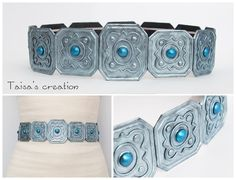 Replica of the Ciri's belt, that was used in cosplay (not my х) It was commision =з ) Fandom: The Witcher: Wild Hunt Materials: polyme. Halloween Cosplay, Cosplay Costumes, Ciri, Cosplay Tutorial, Costume Patterns, The Witcher 3, Diy Accessories, Clothing Patterns, Turquoise Bracelet