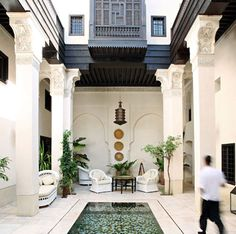 Moroccan Courtyard. Seriously pondering the idea of opening a guest house in Marrakesh, Morocco...
