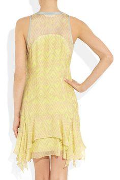 Rebecca Taylor|Printed silk-chiffon dress|NET-A-PORTER.COM