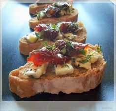 Saint Augure Cheese with Fig Preserve and Thyme- Appetizers August (4)