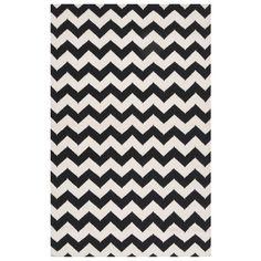 Surya Frontier Tight Zigzag Winter White/Jet Black Hand Woven Rug @Zinc_Door