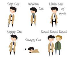 Soft Cas, warm Cas, little ball of souls, Happy Cas, sleepy Cas , Dean Dean Dean.