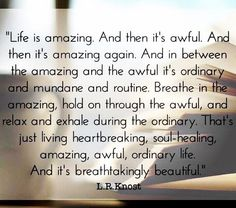 Life is amazing... and then it's awful...