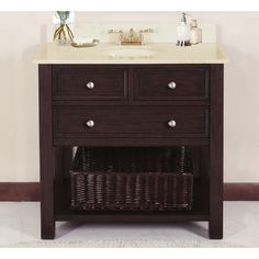 """Lanza Products WF6621-36 Camber 36"""" Vanity with Backsplash and Sink $936"""