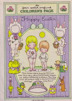Happy Spring! Easter inspiration by JoanWalsh Anglund by Misako Mimoko