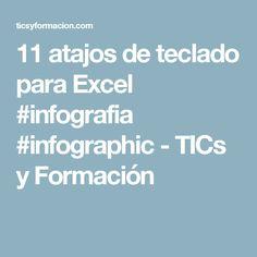 11 atajos de teclado para Excel #infografia #infographic - TICs y Formación Keyboard Shortcuts, Abundance, Vows, Leadership