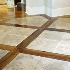 Wide And Narrow Wood Look Tile Flooring