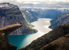 Norway Fjords/Troltunga: Top 10 Hiking Trails in the World Oh The Places You'll Go, Places To Travel, Places To Visit, Stavanger, Bergen, Norway Travel, Photos Voyages, Lofoten, Landscape Pictures