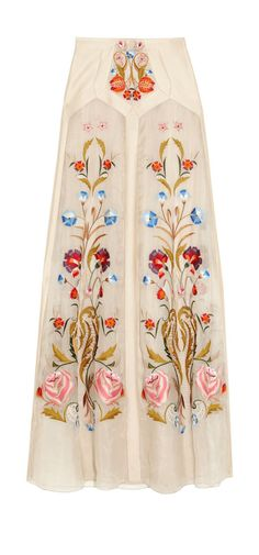 #fashion #embroidered #long #skirt
