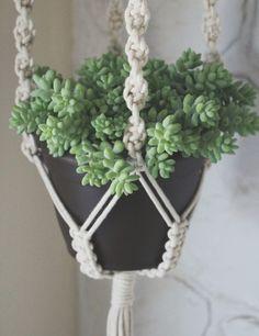 DIY: macrame plantenhanger, zo gepiept!